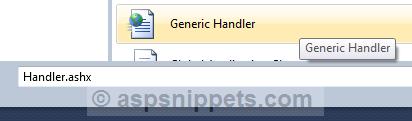 Generic Handler