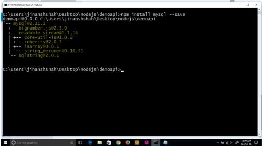 API با استفاده از Node.js