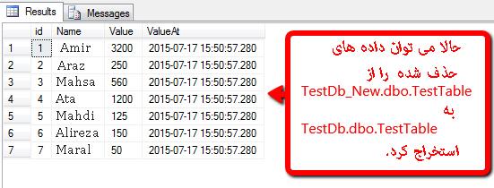 بازیابی داده های حذف شده