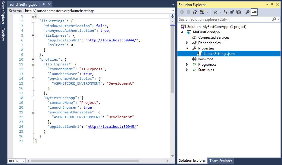 اپلیکیشن درASP.NET Core