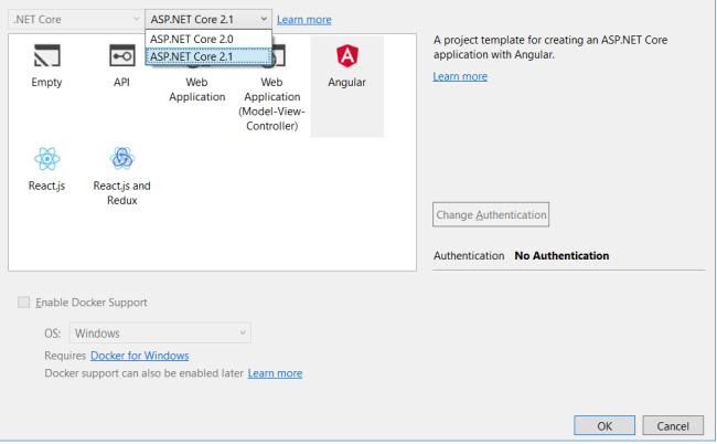 انگولار 5 با 2.1.NET Core